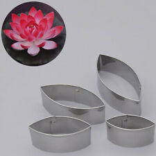 4Pcs Stainless Steel Cut Mould Water Lily Lotus Petal Shaped Mold Cutter Tool_UK
