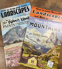 Lot of 4 Vintage WALTER T. FOSTER  Painting & Art Instruction Landscapes NIP