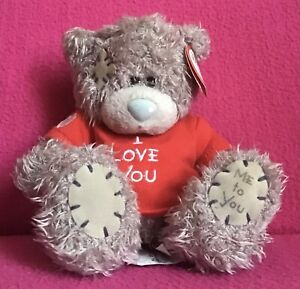 """Me to You Tatty Teddy Bear In """"I Love You"""" T-Shirt Grey Soft Plush Toy 5"""" Tag"""