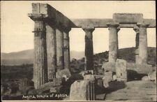 Greece - Aegina Temple of Aphaia - Used Cancel Multiple Stamps Postcard