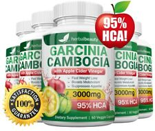 5 x Herbal Beauty GARCINIA CAMBOGIA 95% + APPLE CIDER VINEGAR Weight Loss 3000mg