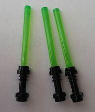 LEGO® Star Wars™ 3 Laserschwerter grün, Griff schwarz Neuware Zubehör für Figur