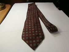 Italian silk tie designer Peter Thomas by Superba Maroon geo box Very Nice