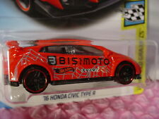 '16 HONDA CIVIC TYPE R #126✰red✰Speed Graphics✰2018 Int'l Hot Wheels WW case F
