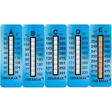 Termometro adesivo reversibile Thermax  E range 204-260 C°  2 strisce adesive