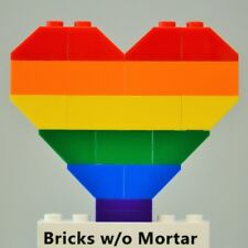 New Genuine LEGO Gay Pride Rainbow Heart Love Wedding Valentine's Day