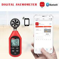 LCD Anémomètre Numérique Thermomètre Mesure Vitesse Vent Station Météo