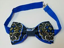 NEW Custom Mens Bow Tie Paisley Navy/Blue Whale Pre-tied Adjustable Gift 4 Him