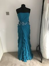 Rosa Couture Prom Dress Size 10 Turquoise Colour