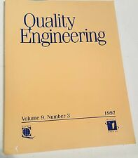 QUALITY ENGINEERING VOL 9 NO 3 1997 AMERICAN SOCIETY FOR QUALITY Marcel Dekker