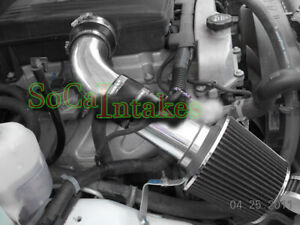 Black 2pc Cold Air Intake Kit & Filter For 2007-2009 Hummer H3 3.7L L5