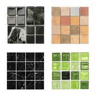 10PCS DIY Mosaik 3D Selbstklebende Wandfliesen Aufkleber Badezimmer R8G8 W J7V0