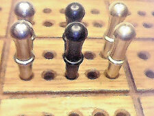 """.Cribbage Pegs 6-Metal """"Classic"""" 2 ea.Brass,Black, Stainless Steel 3/32"""". USA  a"""