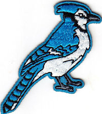 BLUE JAY - BIRDS -  Iron On  Embroidered Applique Patch