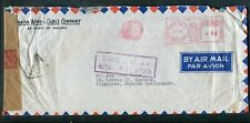 1941 Toronto Advertising Meter Cancel Singapore Service Suspended Censor Cover
