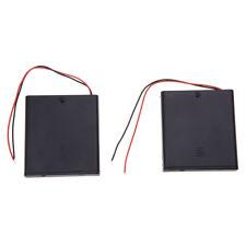 2 pz 4 x AA 6V Battery Holder archiviazione Caso Wired ON / OFF w Coperchio H3T4