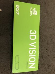 NVIDIA 3D VISION WIRELESS GLASSES For Acre BOXED Brand New