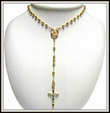 14k Yellow Gold Rosary Necklace Length 16 To 17  Inches  / RRN 001 /