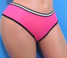 HYPE Black Seafoam Blue Pink nylon Sheer Sissy Low cut bikini panties Sz M XL
