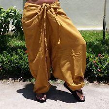 Cotton Harem Pants Women Baggy Aladdin Genie Boho Travel Yoga Thai Pants* HM-U