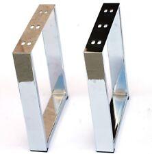 Coffee Table legs 16 Inch U Shape Chrome No Rust Heavy Duty Elegant Modern 2PC