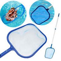 Professional Leaf Rake Mesh Frame Net Skimmer Cleaner Swimming Pool Spa Tools jo