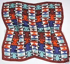 Neu Coccinelle Tuch Schal Halstuch 100% Seide 85cm x 85cm (109) 1-16 #123
