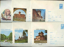 Romania 1973, 6 Unused Stationery Pre-Paid Envelopes Covers #C21435