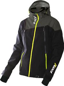 FXR Mens Black/Charcoal/Hi-Vis Mission Waterproof Trilaminate Shell Jacket