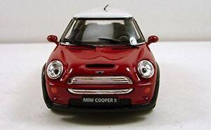 "New 5"" Kinsmart Mini Cooper S Diecast Model Toy Car 1:28 Red"