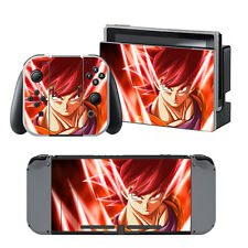 Nintendo Switch Dragonball Super Saiyan God Goku Skin Decals Stickers