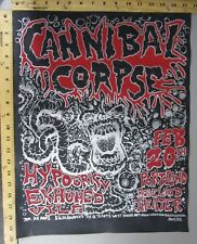 04 Rock Concert Poster Cannibal Corpse Mike Fisher S/N #200 Roseland Portland OR