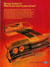 "1969 Mercury Cyclone CJ 428 photo ""What Do You Want on Your Red Hot?"" print ad"