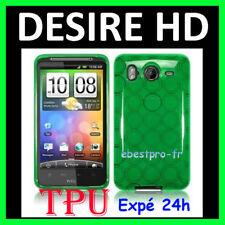Accessoire Housse Coque Vert TPU Silicone Gel HTC Desire Hd +Film