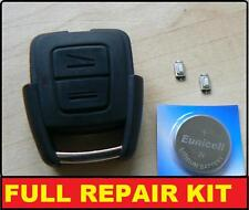 Vauxhall Opel Astra Vectra Zafira 2 Button Remote Key Fob Case Shell Repair Kit