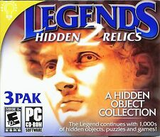 THE BROKEN CLUES Hidden Object LEGENDS 2: HIDDEN RELICS 3 PACK PC Game NEW