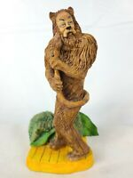 Michael Roche Signed WIZARD OF OZ Sculptures Cowardly Lion 1989