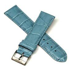 Leder-Uhrenarmband hellblau Esprit mattierte Dornschließe - 22 mm