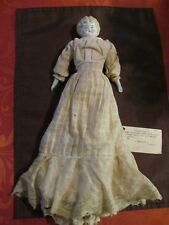 "13 "" lady-c1880-China Shoulder Head, China arms/feet, cloth body, German"