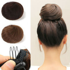 HOT Wavy Curly Hair Bun Extensions Messy Hairpiece Scrunchie Pony Tail As Human
