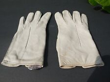 **MARSHALL FIELDS LADIES BEIGE SOFT LEATHER DRESS GLOVES ANGORA KNIT SIZE 7.5