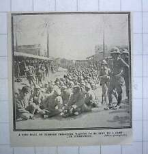 1917 Fine Hall Of Turkish Prisoners Waiting To Be Sent To Internment Camp