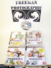 EA Madden Football 09 10 11 12 13 5 Game Lot for Sony Playstation 3 PS3 Used VG+