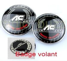 KIT - 3 Badge AC SCHNITZER - BMW Embleme- Capot+Coffre+Volant LOGO 82/73/45mm