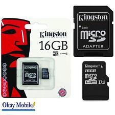 Kingston Micro SD SDHC 16GB memory Card Class 10 with SD Adaptor