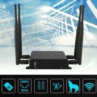 300M Industrial 4G/3G Wireless WiFi Router USB Modem Hotspot w/ SIM Card Slot GB
