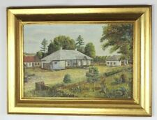 Framed Oil Painting on Canvas 'A Farmhouse, Belarus' signed A Constantine [5558]