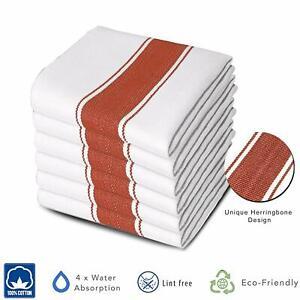 6 Packs 100% Cotton Bar Glass Dish Cloths Catering Kitchen Restaurant Tea Towels