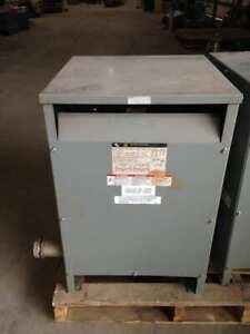 Square D 37S3H 37.5KVA Transformer 240/480V 120/240V 60Hz 1PH