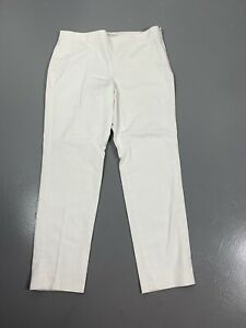 Chaus White Tapered Leg Side Zipper Closure Casual Pants Womens 10